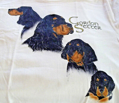 "Gordon Setter T-shirt  "" Natural "" Large ( 42 ~ 44 )"