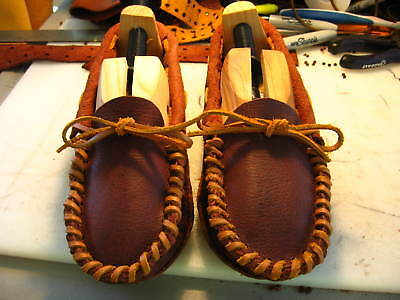 ALL Bison Hide (Double Sole) Scout Moccasins Native American