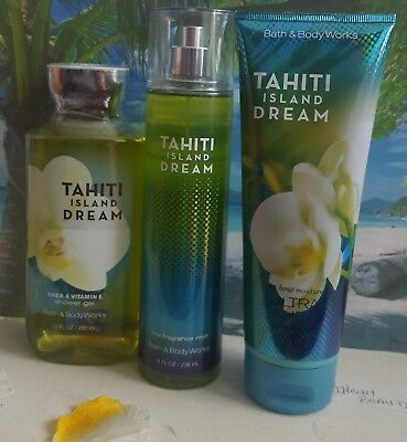 bath and body works tahiti island dream shower gel body cream fragrance mist