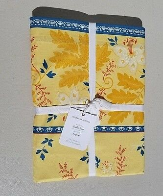 Williams Sonoma Avignon Border Tablecloth 70 x 90 Yellow NWT