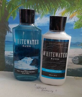 bath and body works whitewater rush body lotion and 2 in 1 hair body wash