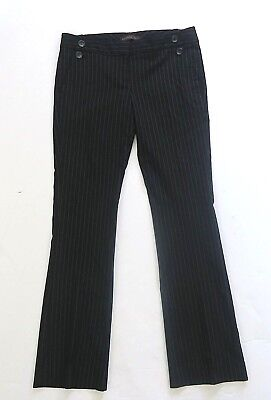 THE LIMITED DREW FIT BLACK PINSTRIPE DRESS PANTS SIZE 6 Career Office EUC