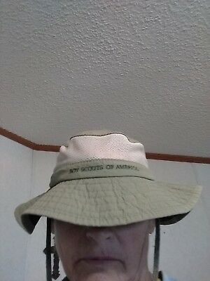 Boy Scouts of America Expedition Hat, Green, Size M, Adjustable, Breathable
