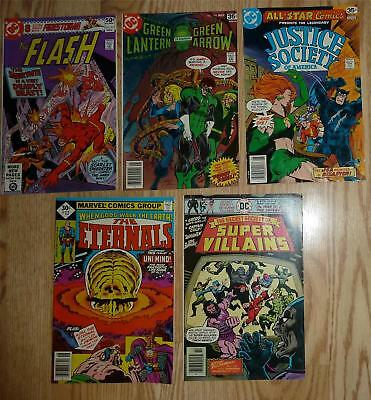 Justice Society Flash Green Lantern Super Villains Eternals Comic Book Lot
