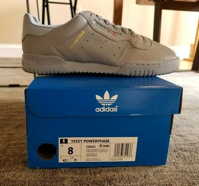 ba7b841bf3fd5 DS ADIDAS YEEZY Powerphase Calabasas Grey CG6422 Size 4 Limited Rare ...