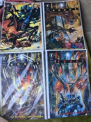 Dark Horse Aliens Rogue Complete Set 1-4 Mint Bagged Boarded