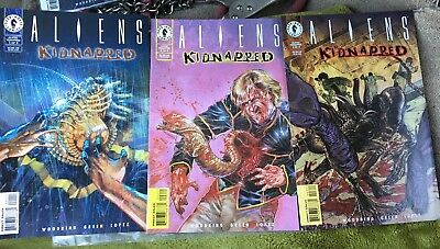 Dark Horse Aliens Kidnapped Complete Set 1-3 Mint Bagged