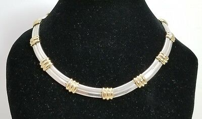 6be866929d0af TIFFANY & CO. ATLAS STATION CHOKER NECKLACE STERLING SILVER & 18k YELLOW  GOLD