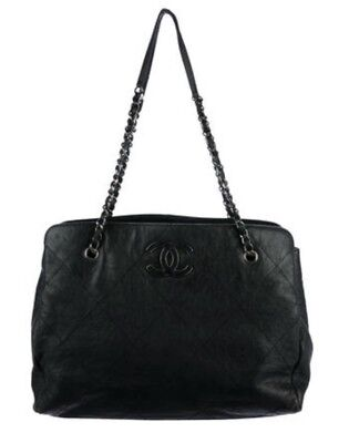 4571ad545c3a8a AUTHENTIC CHANEL HAMPTONS CC Large Shopping Tote Black - $1,499.99 ...