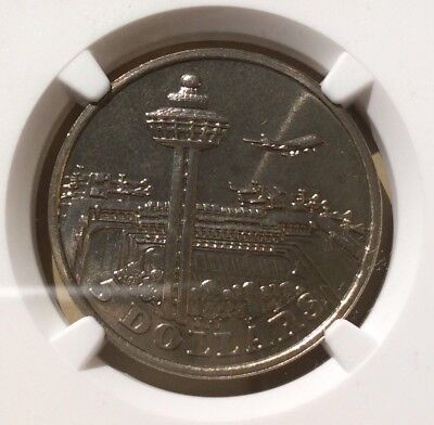 1981 Singapore 5 Dollars Changi Airport NGC MS 67