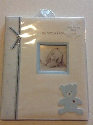 Lil Peach Baby Record Book. Memory Book Blue Bear