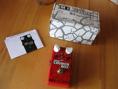 MI AUDIO Super Crunch Box Overdrive Distortion Verzerrer Pedal Amp in a Box