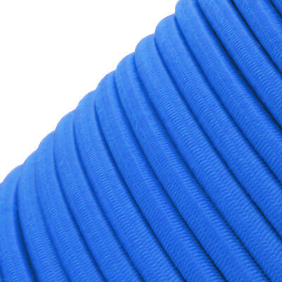 Blue Round Elastic Bungee Rope Shock Cord Tie Down Trailers Roof Rack Boats B