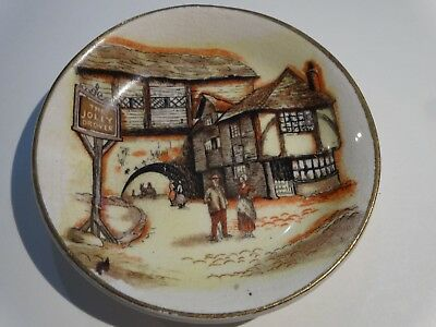Antique LANCASTER & SANDLAND Butter Pat Dish The JOLLY DROVER Hanley England