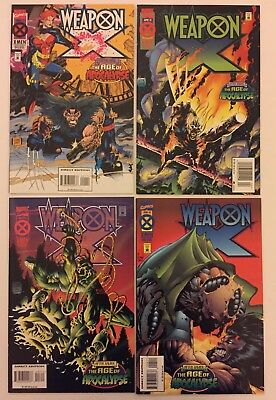 Weapon X #1, 2, 3, 4 Complete Run (Marvel Comics, 1995) VF (4 Comics) Wolverine