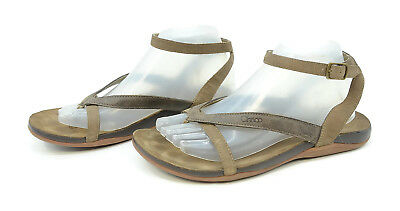 307f32ea4046 Chaco Sofia Dark Earth Womens Sz 9 Gladiator Leather Brown Ankle Strap  Sandals