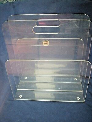 VINTAGE LUCITE MAGAZINE Holder Rack Mid Century Modern PlexArt Extraordinary Lucite Magazine Holder