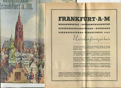 Vintage Brochure FRANKFURT GERMANY 1937 pre-war WW2 zeppelin images