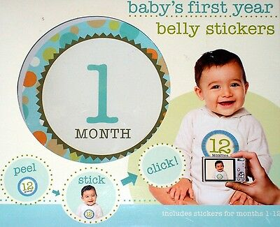Baby's First Year  Belly Stickers  12 Stickers NIB
