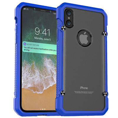 iPhone X Protective Case with Tempered Glass Screen Protector - Blue (50 cases)