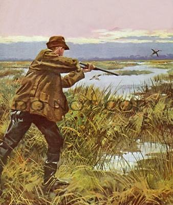 Antique Repro 8X10 Magazine Cover Art Photograph Print Snipe Hunting #2