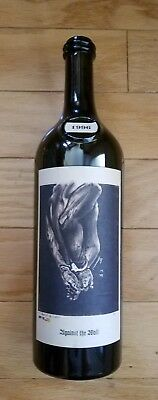 "RARE Sine Qua Non 1996 ""Against the Wall"" EMPTY RED WINE BOTTLE Manfred  Krankl"