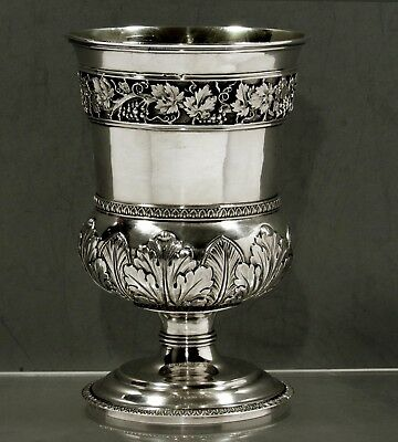 English Sterling Goblet       1818 HOUGHAM, REYES & DIX       WEIGHS 15 OZ.