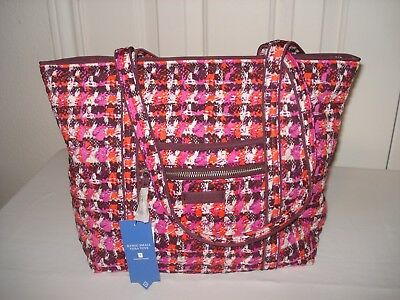 NWT Vera Bradley Iconic Small Vera Tote Bag in Houndstooth Tweed d7a95412c3378