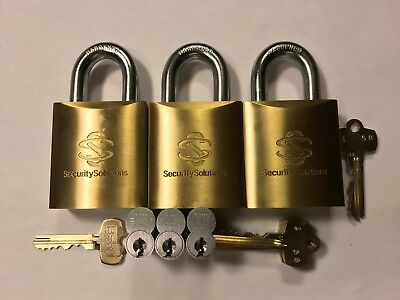 3-Heavy duty padlocks keyed Cormax cores