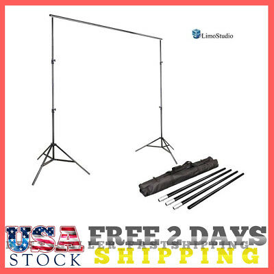 10Ft Show Backdrop Banner Stand Adjustable W/ Bag AGG1112 Durable Portable NEW