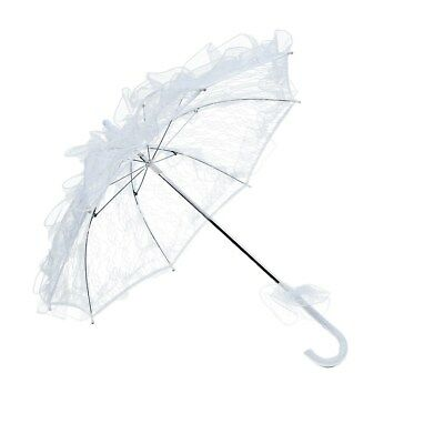 1pc Stylish Exquisite Lace Parasol Handmade Lovely Decorative Umbrella for Women