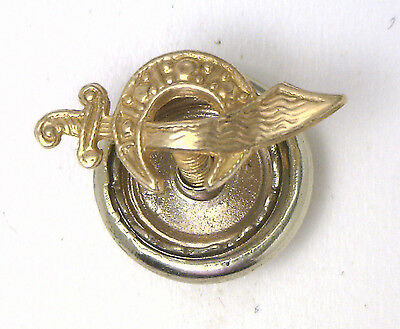 Antique Vintage 14k Yellow Gold Shriner Masonic Lapel Pin #5