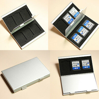 Metal Aluminum Micro SD TF MMC Memory Card Storage Box Protecter Case Holder BN