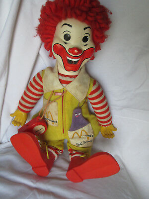Vintage Ronald McDonald Plush With Grimace & Whistle 1978 doll 21""