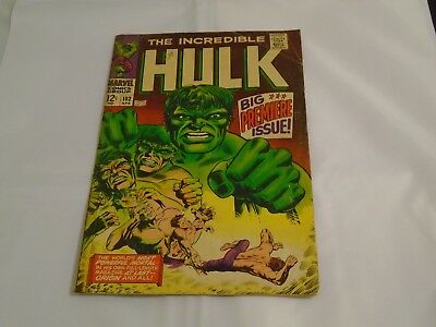 The Incredible Hulk #102  First Series 1968  3.0 - 4.0 Good/Very Good