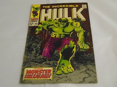 The Incredible Hulk #105  First Series 1968 6.0 Fine