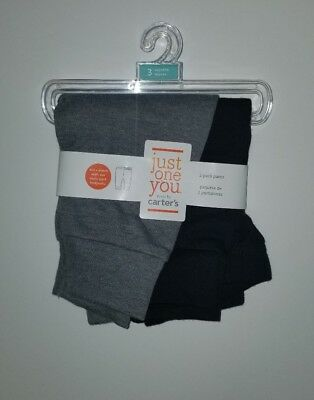 Infant Boys Just One You Made By Carter's 2 Pack Pants Gray & Black 3 Mnth