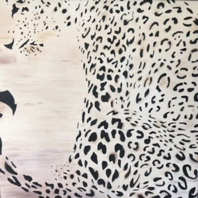 Hand Painted Canvas - Javan Leopard