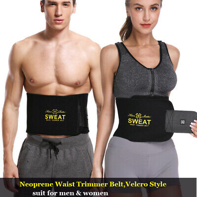 Womens Mens Neoprene Fat Burning Sauna Waist Trainer Belt Trimmer Cincher Shaper