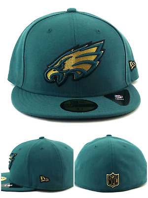best service ebeca 156df Philadelphia Eagles New Era NFL 59Fifty Gold Shadow Green Black Fitted Hat  7 1 2