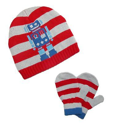 New CTM Toddlers Knit Hat and Mittens Winter Set