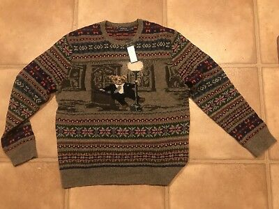 058cf6e7d NWT POLO RALPH LAUREN The Iconic Bear Isle Multi-Color Men s Sweater Size  Large