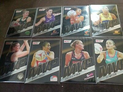 Suncorp Super netball Complete 8 card complete MVP Set