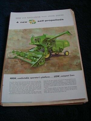 1960 john deere magazine print ad hi lo self propelled 4 page color