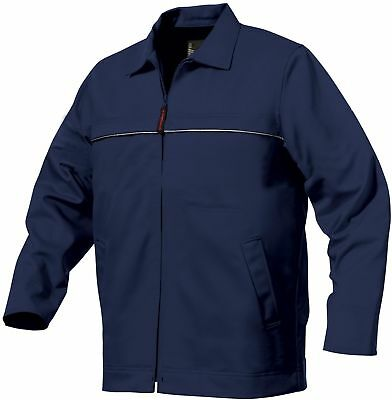 Mens King Gee K05800  100% Cotton Drill Work Jacket Navy Blue Size Large