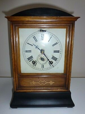 W & H Sch Winterhalder & Hofmeier Type Black Forest Bracket Alarm Clock