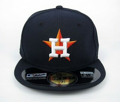New Era Men's MLB Houston Astros League Basic Navy 5950 Fitted Cap - Size 7 1/4