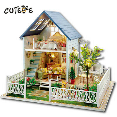 Doll House Miniature With Furnitures Wooden House Toy For Children Birthday Gift