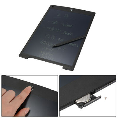 "12"" LCD Writing Tablet Portable Black Board Note eWriter Notepad with Pen AH321"