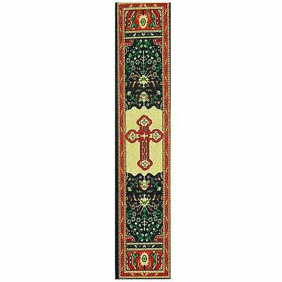 """Red Byzantine Cross Tapestry Cloth Book Marker 9 1/8""""x2"""""""
